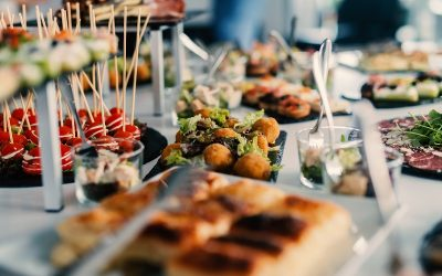 Food can make or break a wedding reception